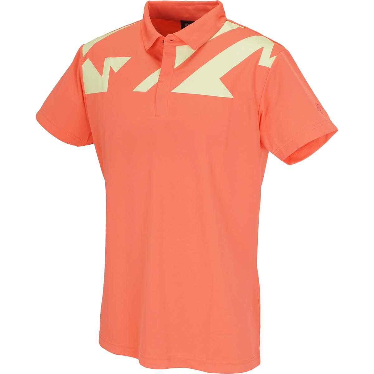 切り子プリント 半袖ポロシャツ