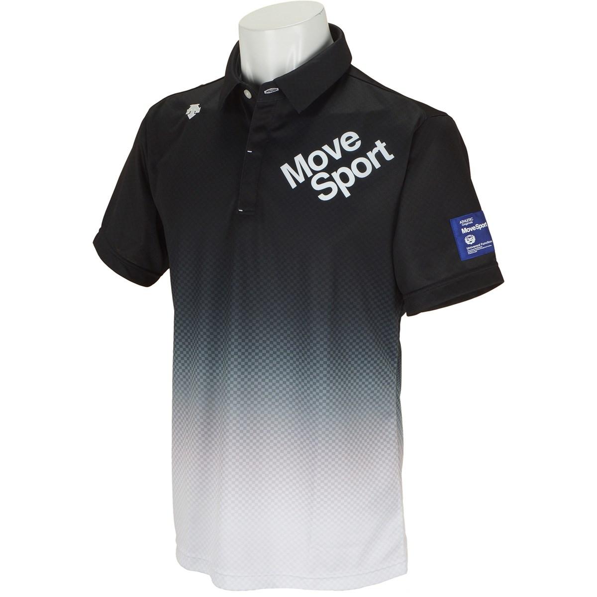 デサントゴルフ(DESCENTE GOLF) BLUE LABEL グラデーション市松プリントリバースメッシュ 半袖ポロシャツ