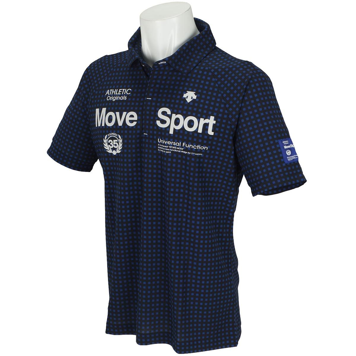 デサントゴルフ(DESCENTE GOLF) BLUE LABEL 市松プリント鹿の子 半袖ポロシャツ