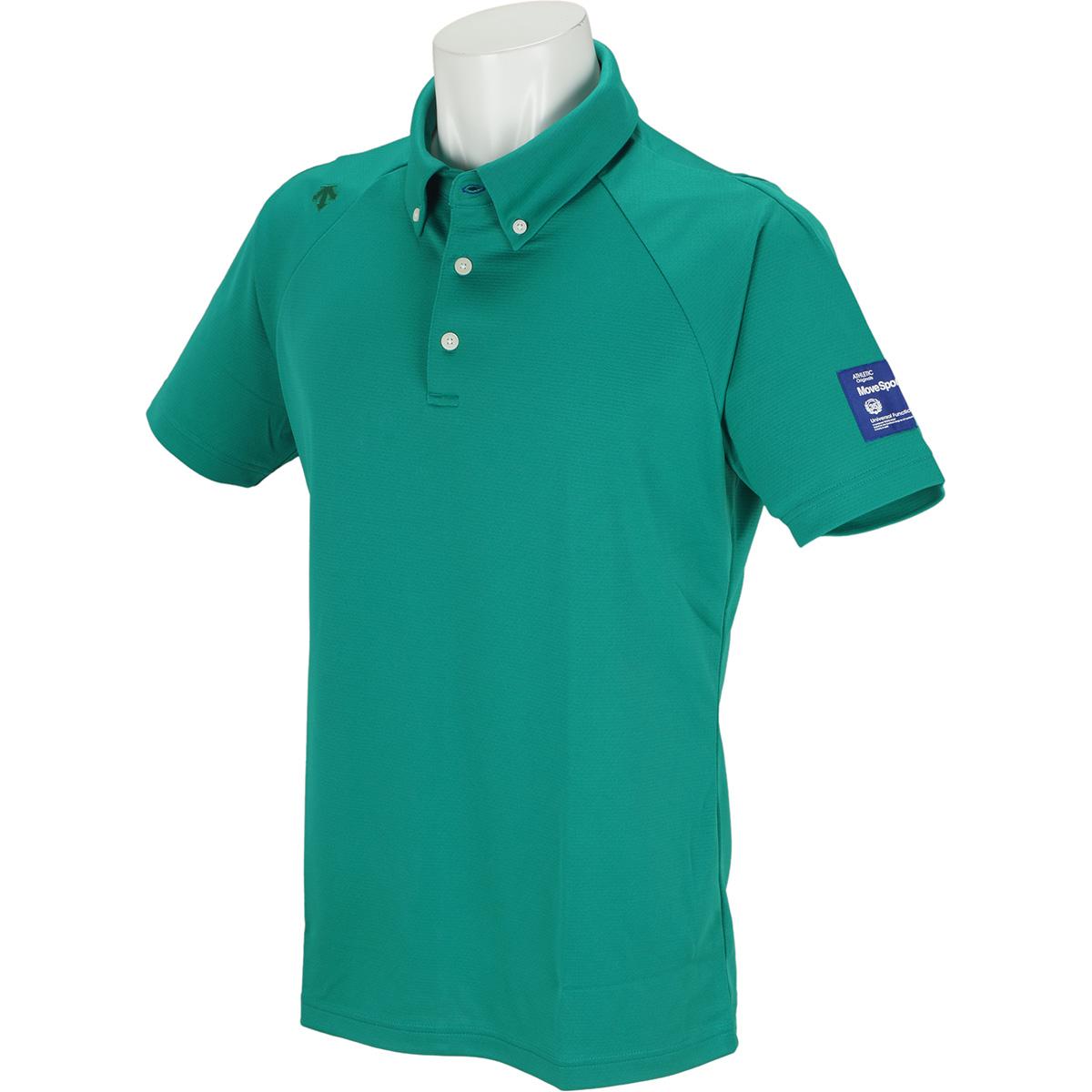 シャドーボーダー ボタンダウン半袖ポロシャツ