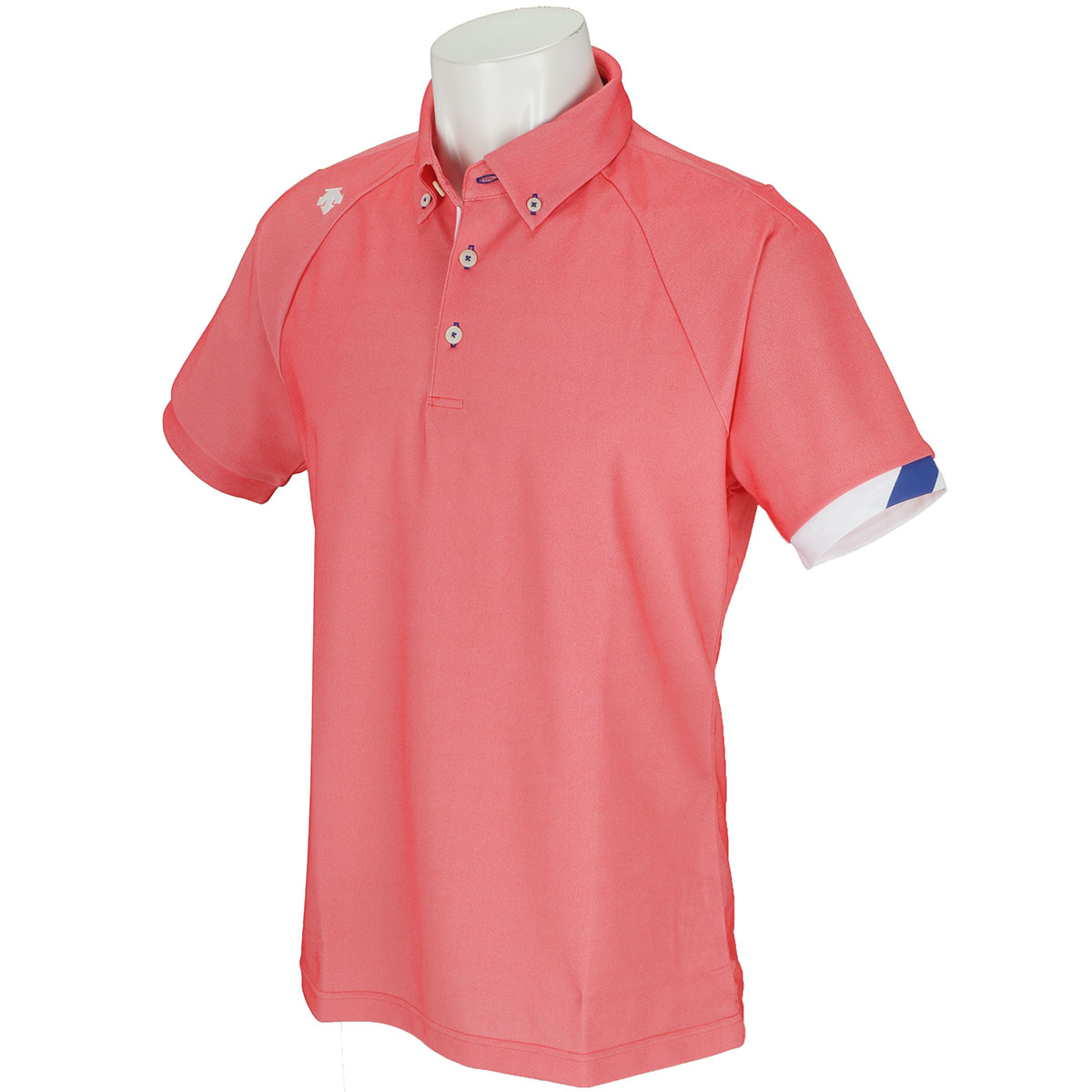 シャンブレー ボタンダウン半袖ポロシャツ