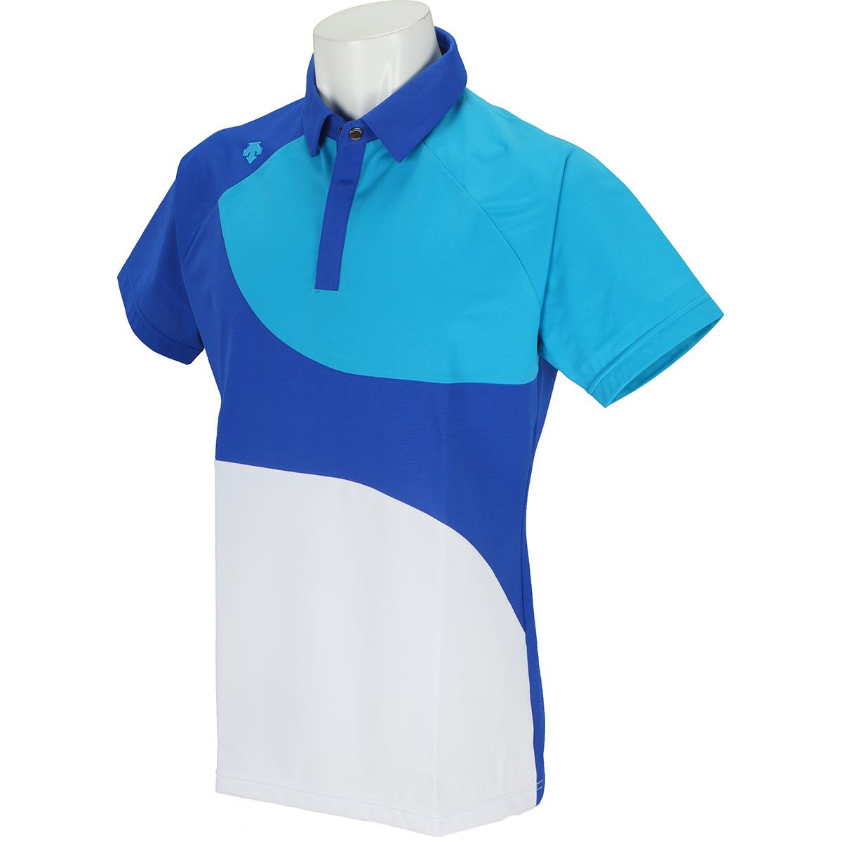 クーリストHINERI枯山水切り替え 半袖ポロシャツ