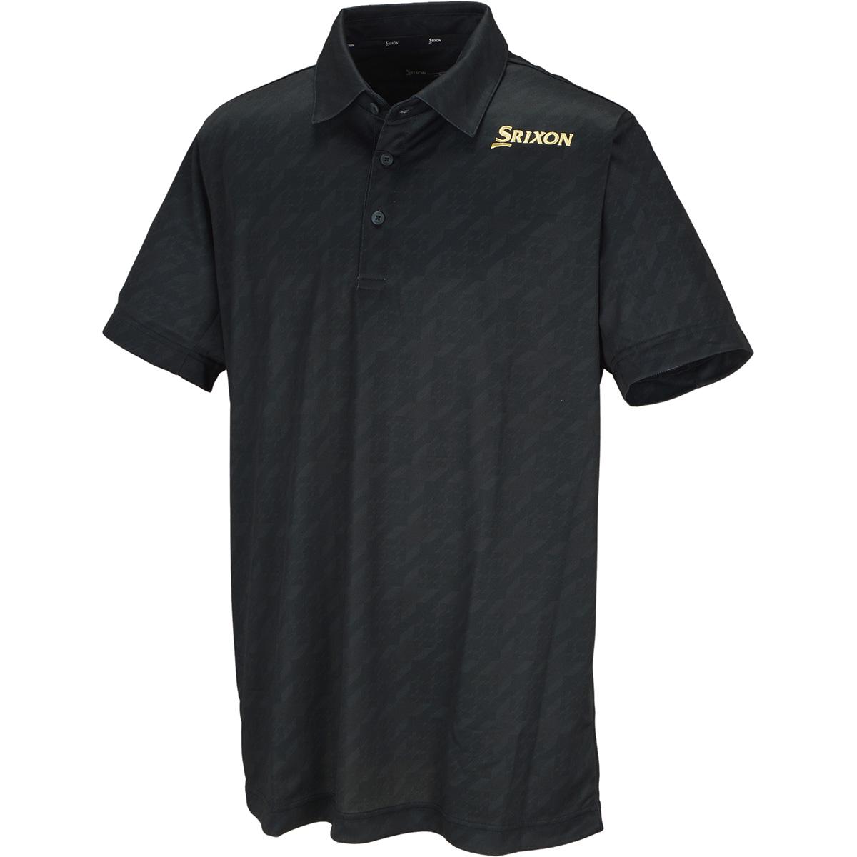 シャインプリントメッシュリバース半袖ポロシャツ
