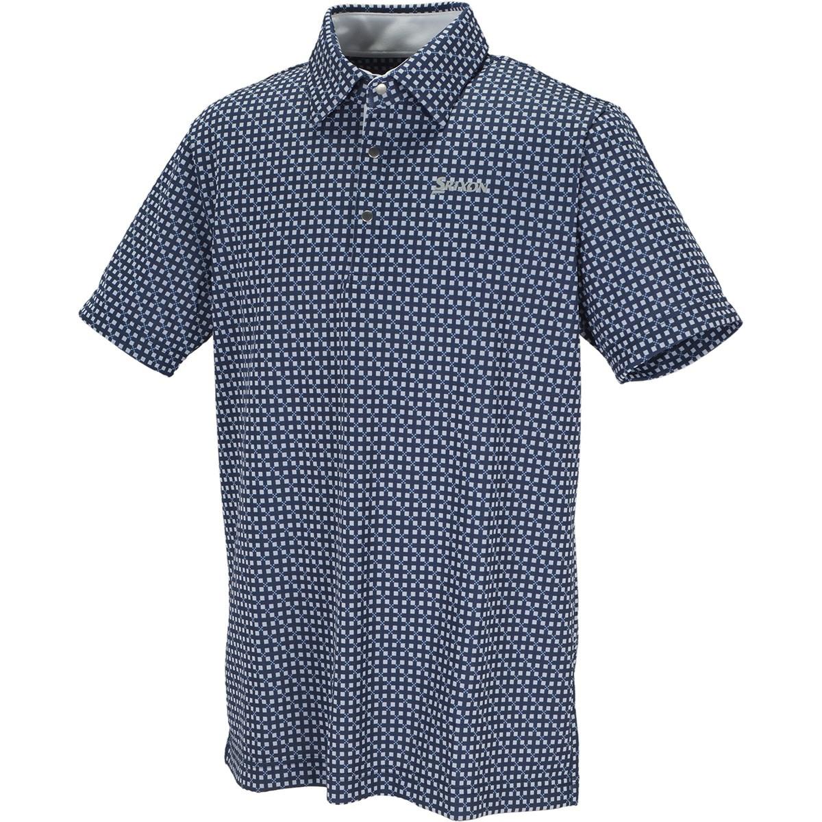 スリクソンゴルフ 針抜きジャカード半袖ポロシャツ