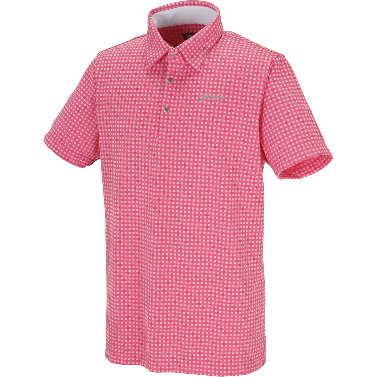 針抜きジャカード半袖ポロシャツ
