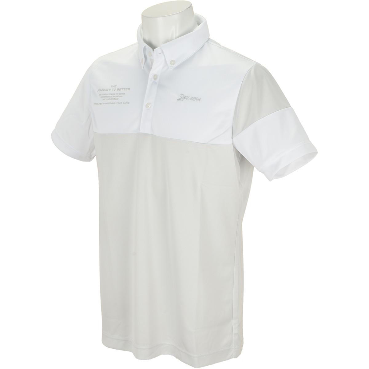 バイカラー半袖ポロシャツ