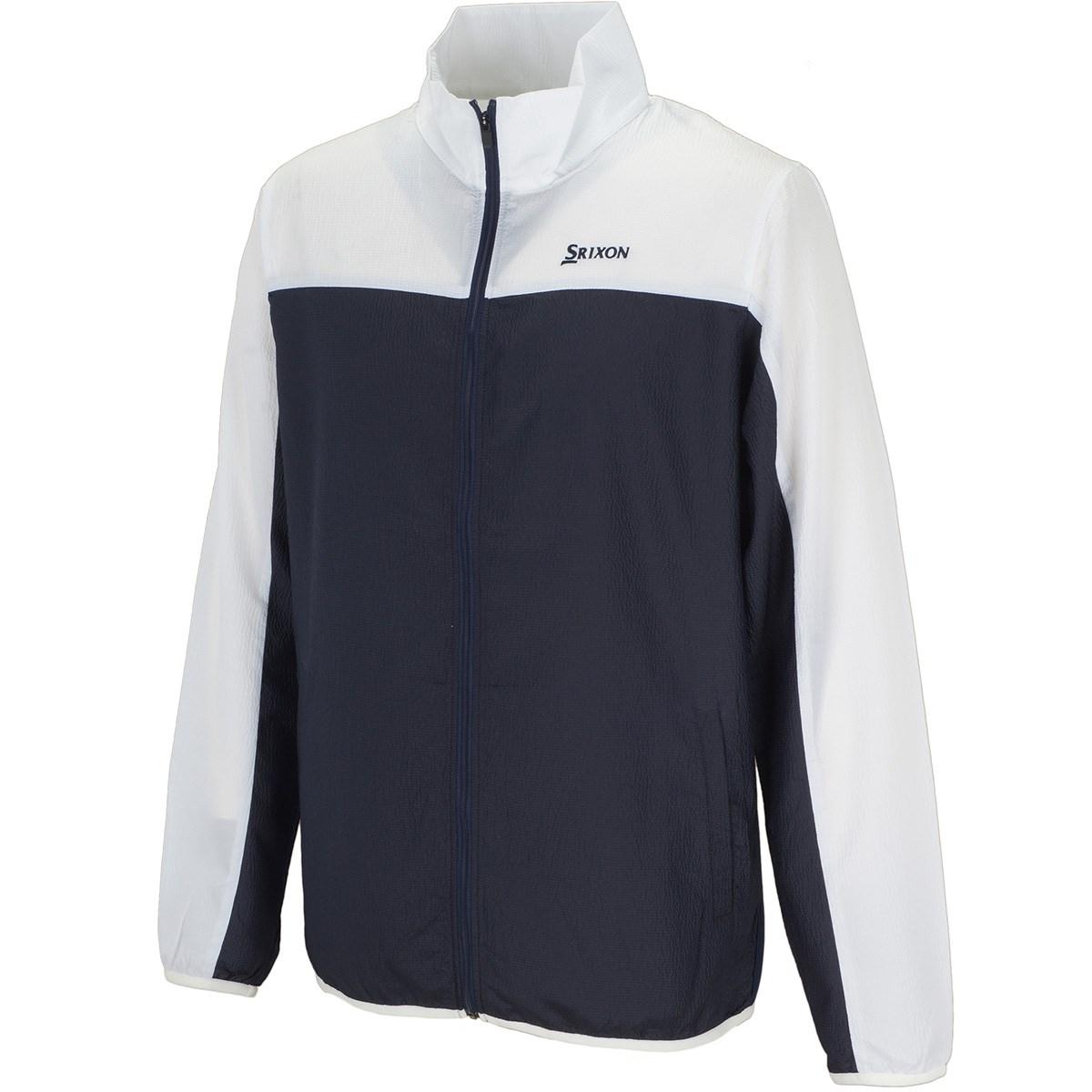 スリクソンゴルフ ストレッチ バイカラーフルジップウインドジャケット