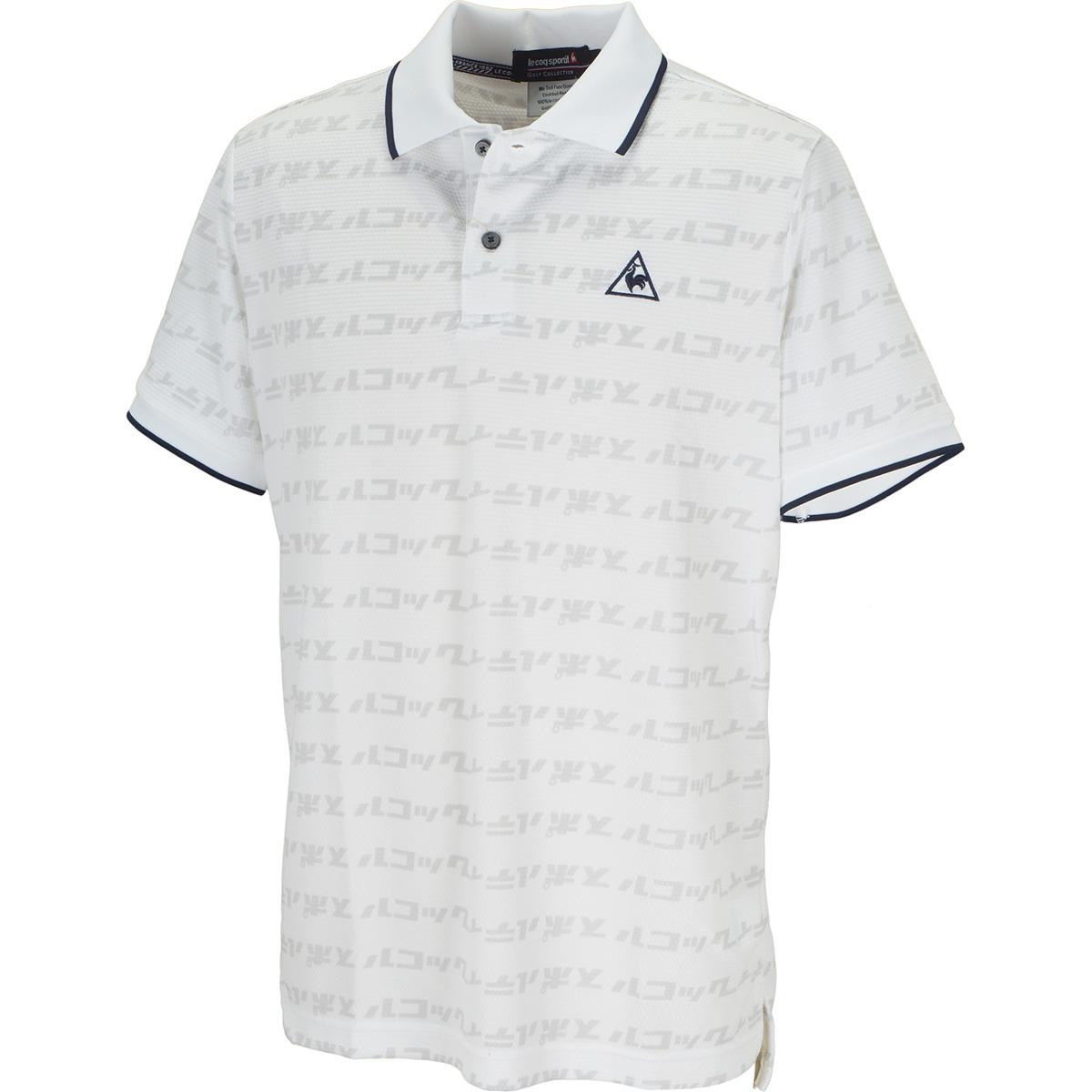 ハニカムメッシュカナロゴプリント半袖ポロシャツ