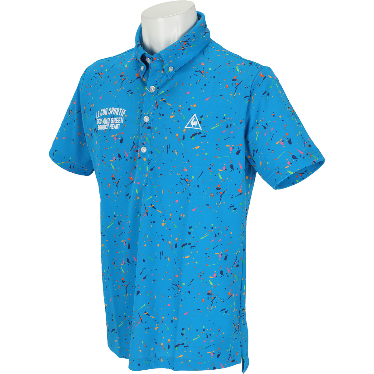 サンスクリーンスプラッシュプリント半袖ポロシャツ