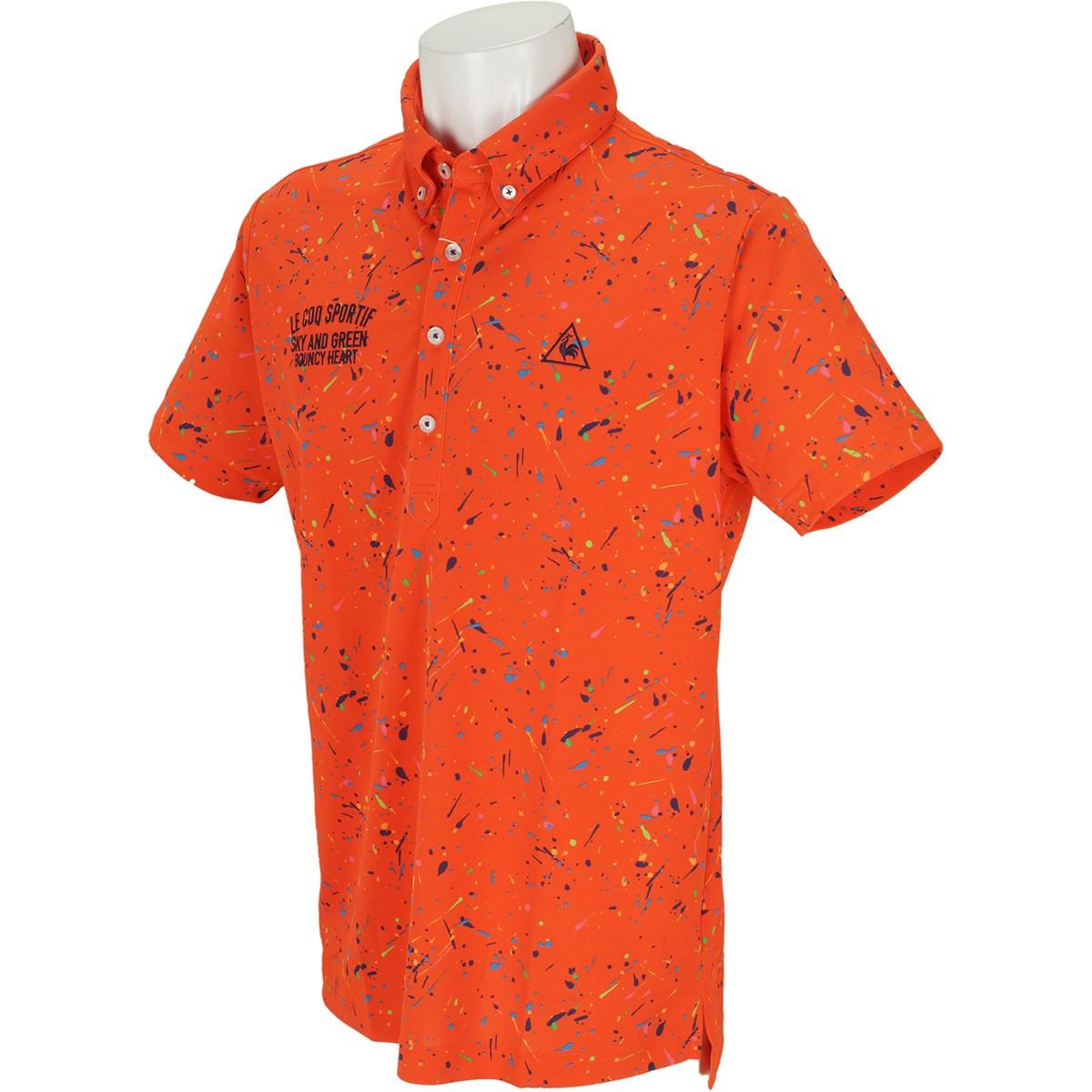 ルコックゴルフ サンスクリーンスプラッシュプリント半袖ポロシャツ