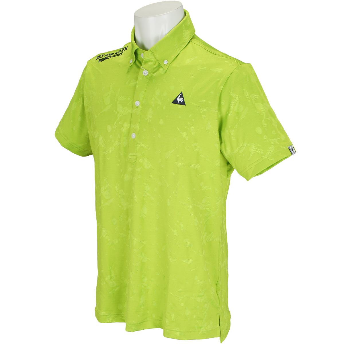 コンピュータースプラッシュジャカード半袖ポロシャツ