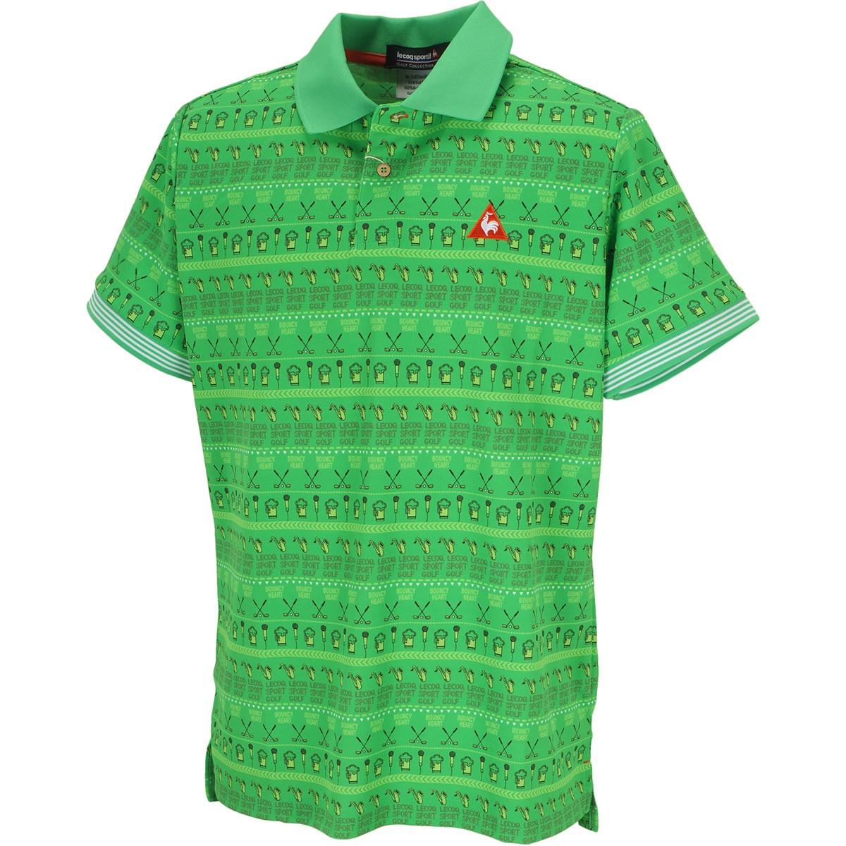 ルコックゴルフ フェストライバルプリント半袖ポロシャツ