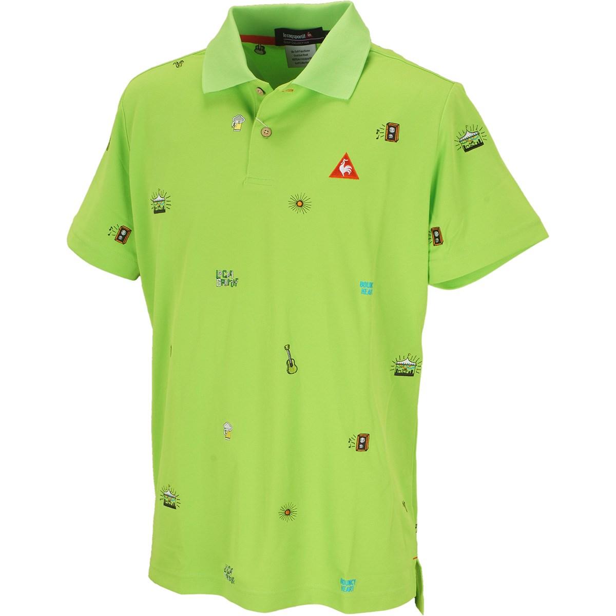 ルコックゴルフ クーリスト鹿の子半袖ポロシャツ