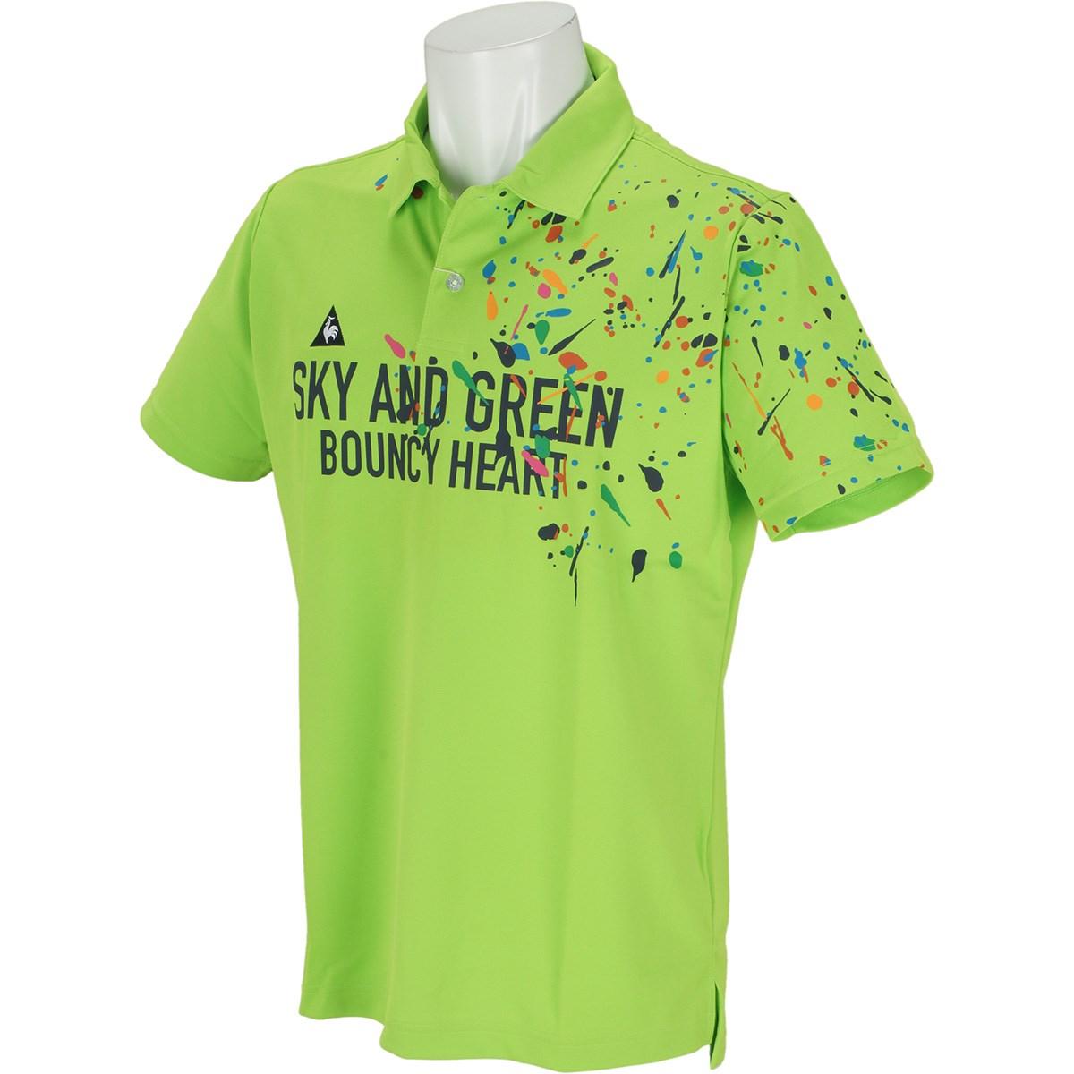 ルコックゴルフ Le coq sportif GOLF クーリストスプラッシュパネルプリント半袖ポロシャツ M グリーン 00