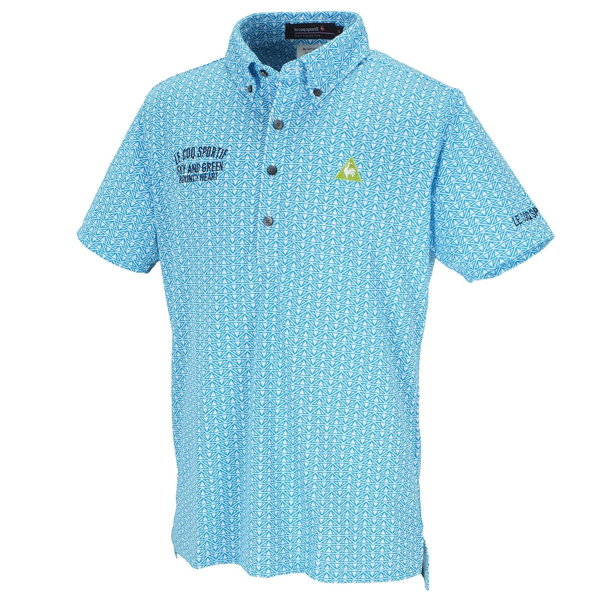 ルコックゴルフ クーリストフェステントプリント半袖ポロシャツ