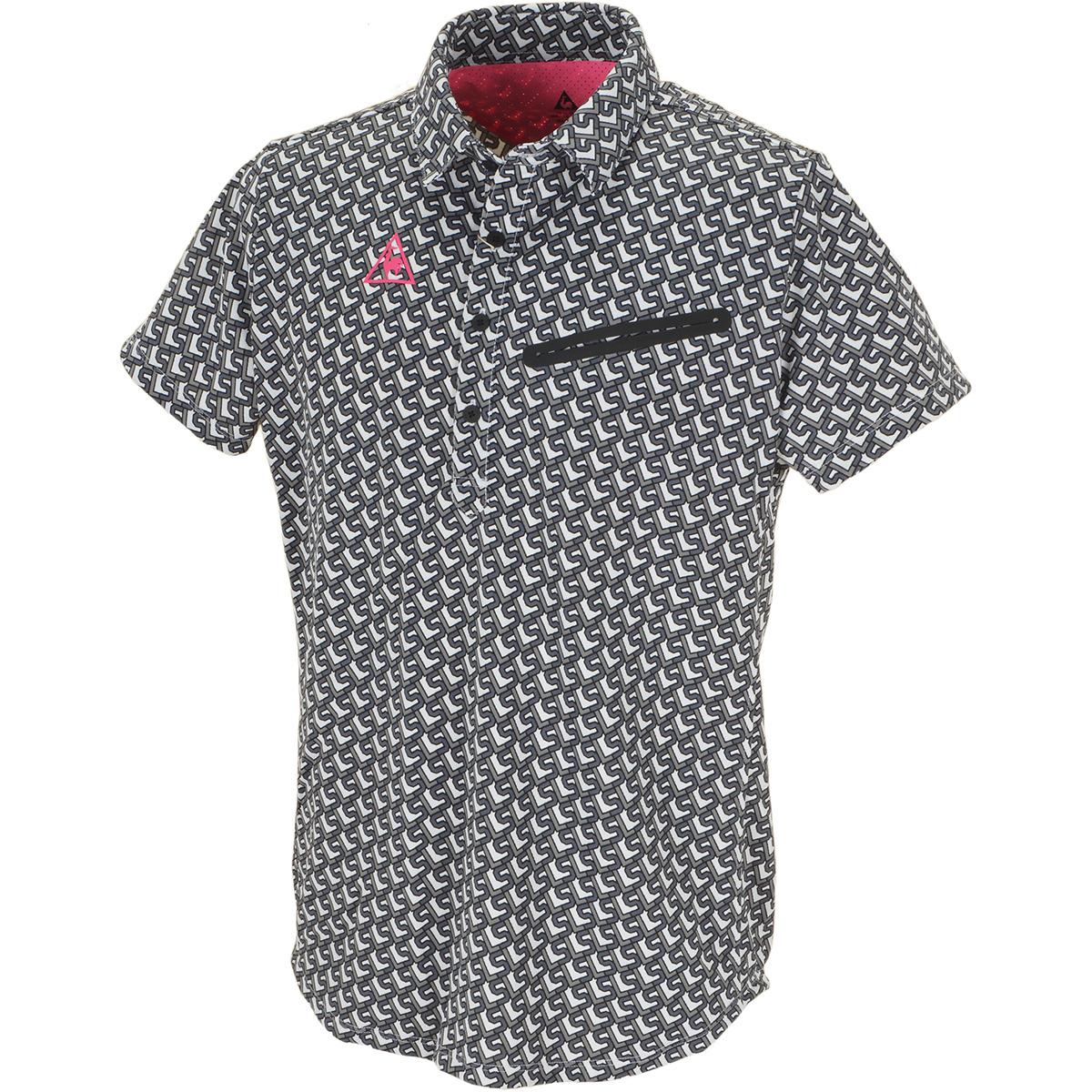 ボックスロゴプリント半袖ポロシャツ