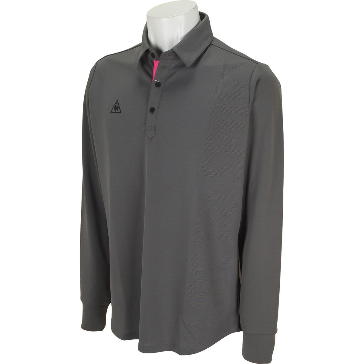 ルコックゴルフ COPジャカード長袖ポロシャツ