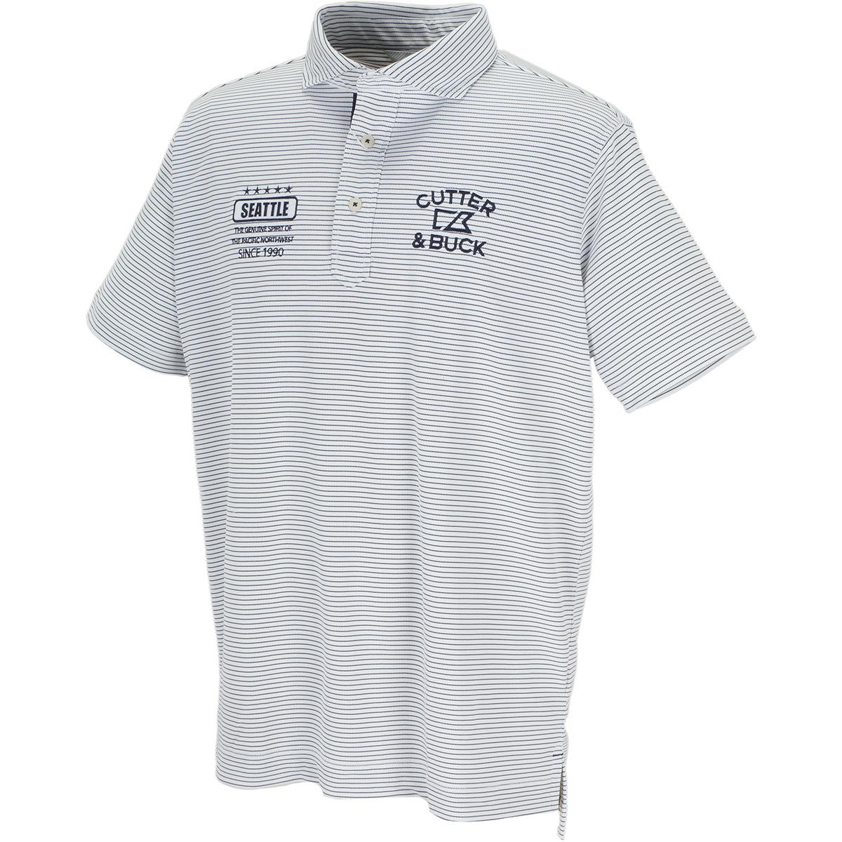 クーリストD-TECボーダーウインドカラー 半袖ニットポロシャツ