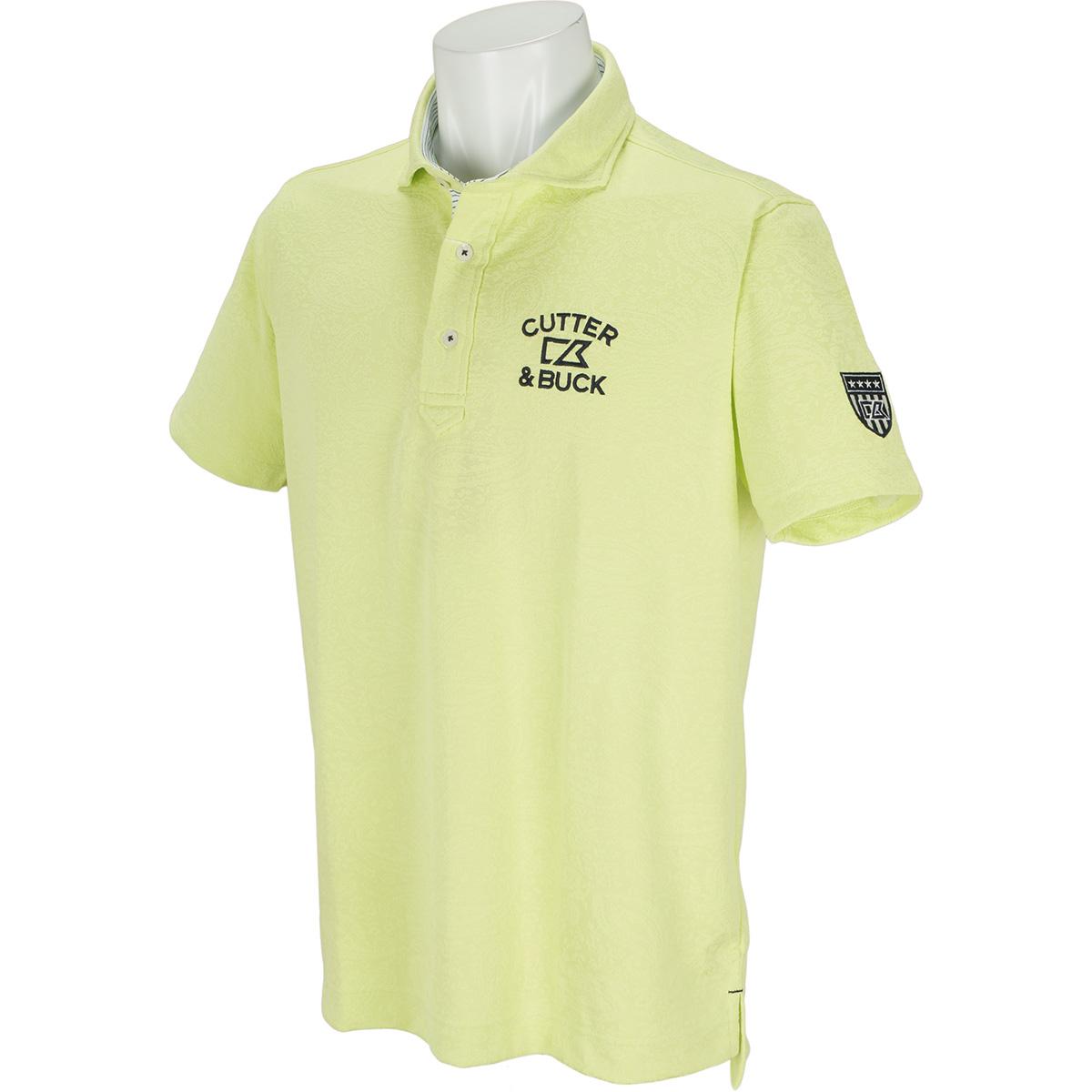 サンスクリーンペイズリーウインドカラー 半袖ニットポロシャツ