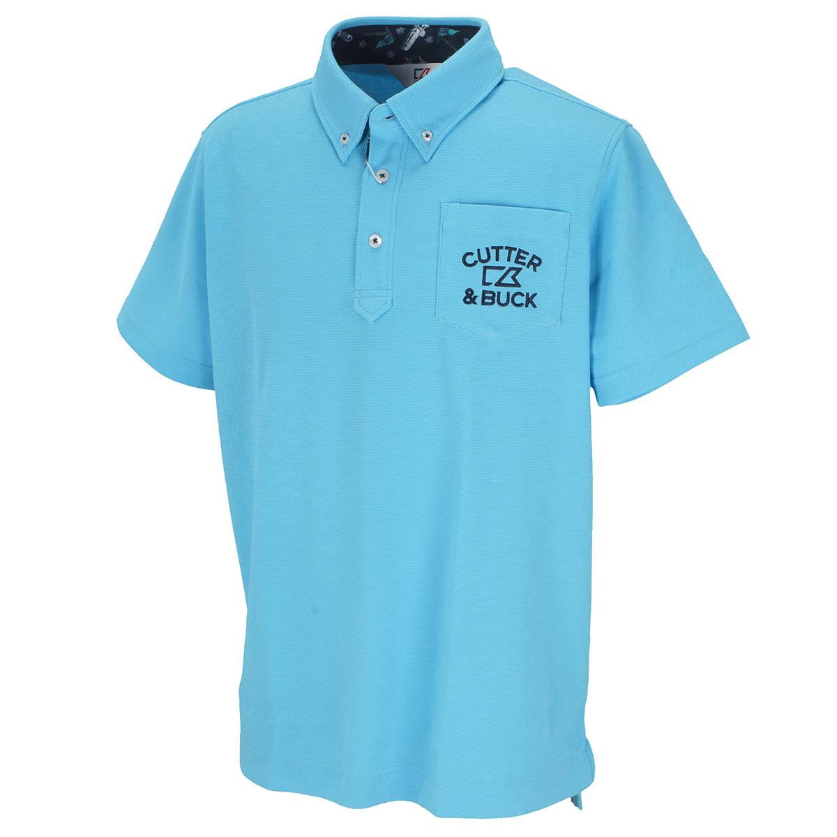 ビックハニカム ボタンダウンカラー 半袖ニットポロシャツ
