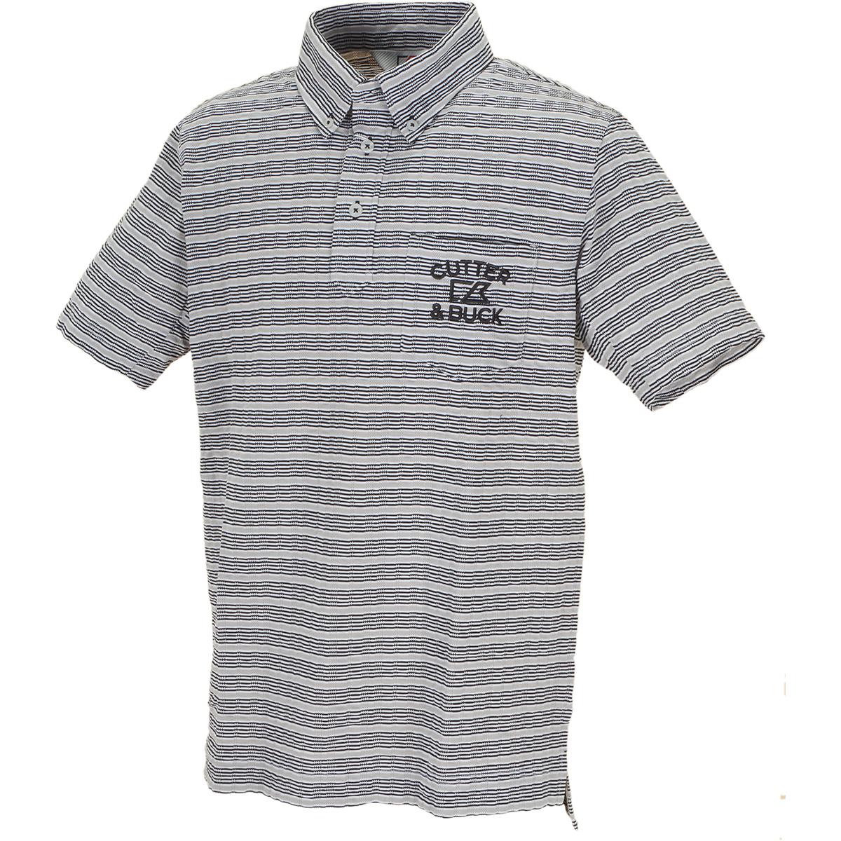 サッカーボーダーボタンダウンカラー 半袖ニットポロシャツ
