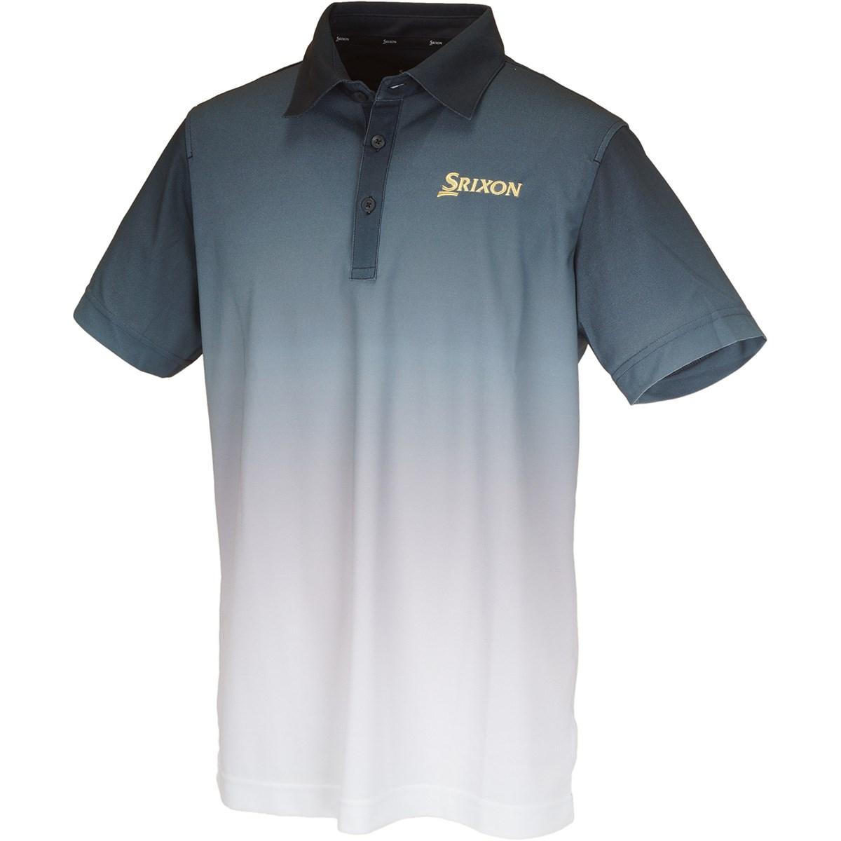 スリクソンゴルフ SRIXON COOLISTグラデーションプリント 半袖ポロシャツ 3L ブラック 00
