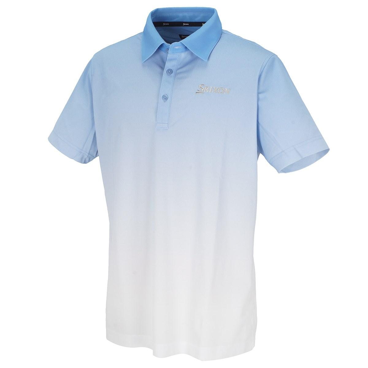 スリクソンゴルフ SRIXON COOLISTグラデーションプリント 半袖ポロシャツ L サックス 00