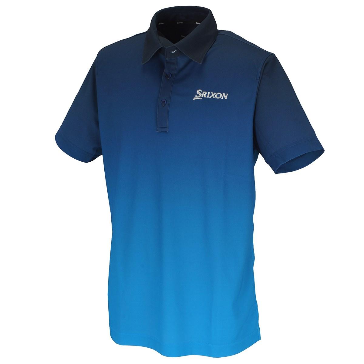 スリクソンゴルフ SRIXON COOLISTグラデーションプリント 半袖ポロシャツ M ネイビー 00