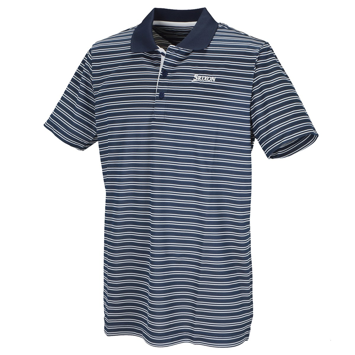 スリクソンゴルフ COOLIST針抜きボーダー半袖ポロシャツ