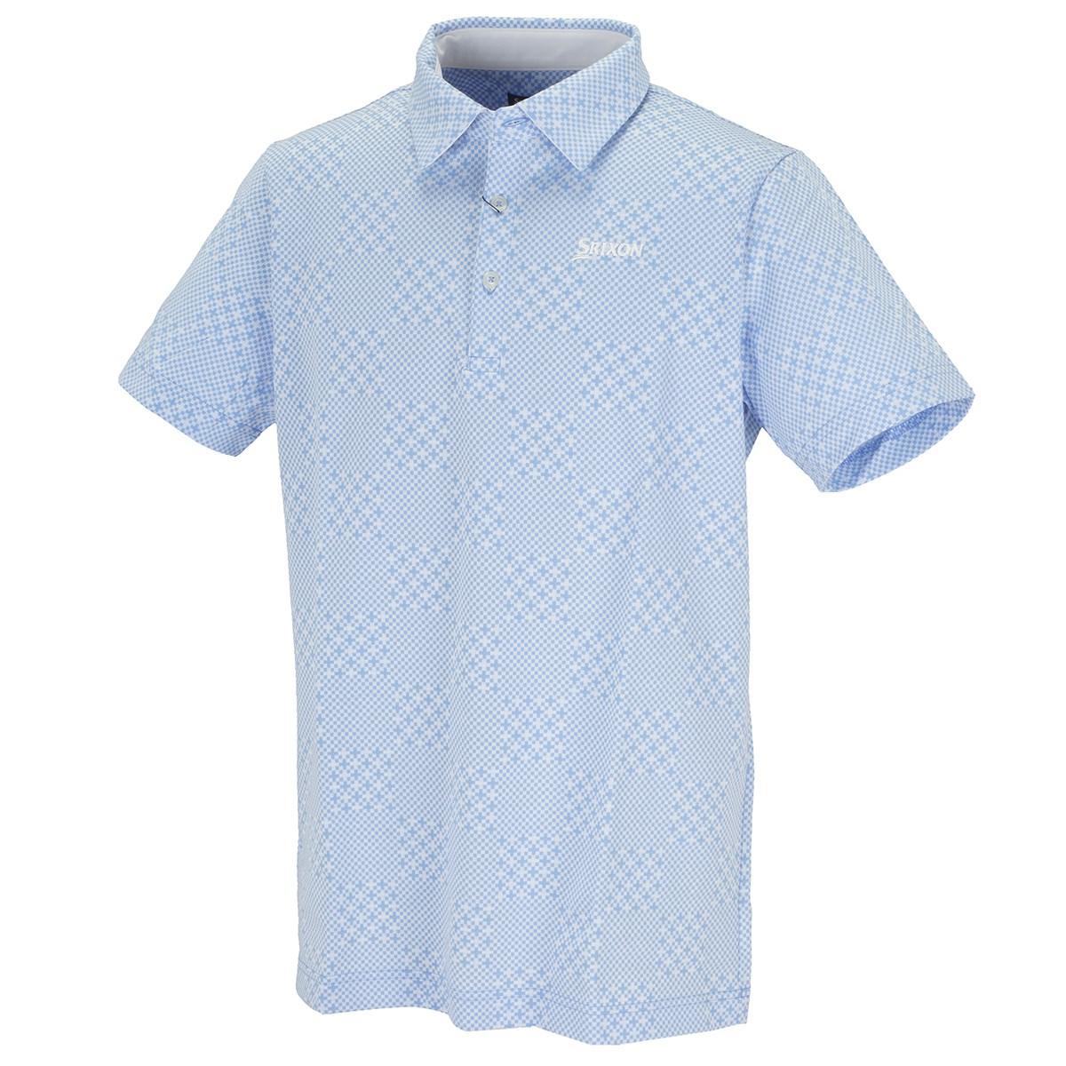 スリクソンゴルフ 親子チェッカーシングルジャカード 半袖ポロシャツ