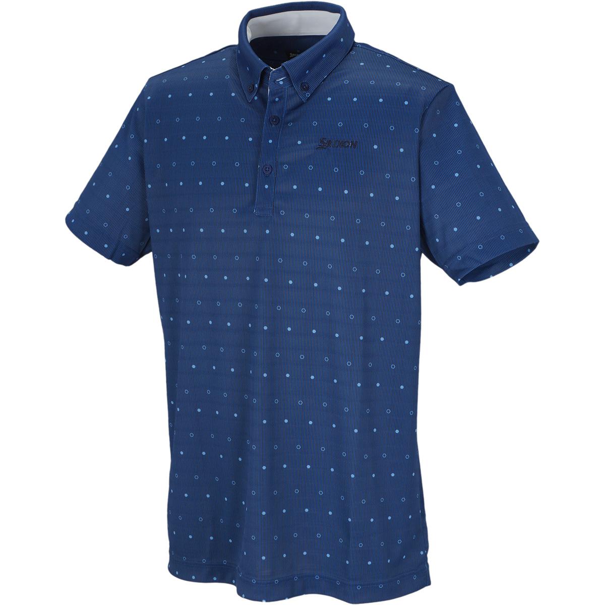 スムースメッシュプリント半袖ポロシャツ