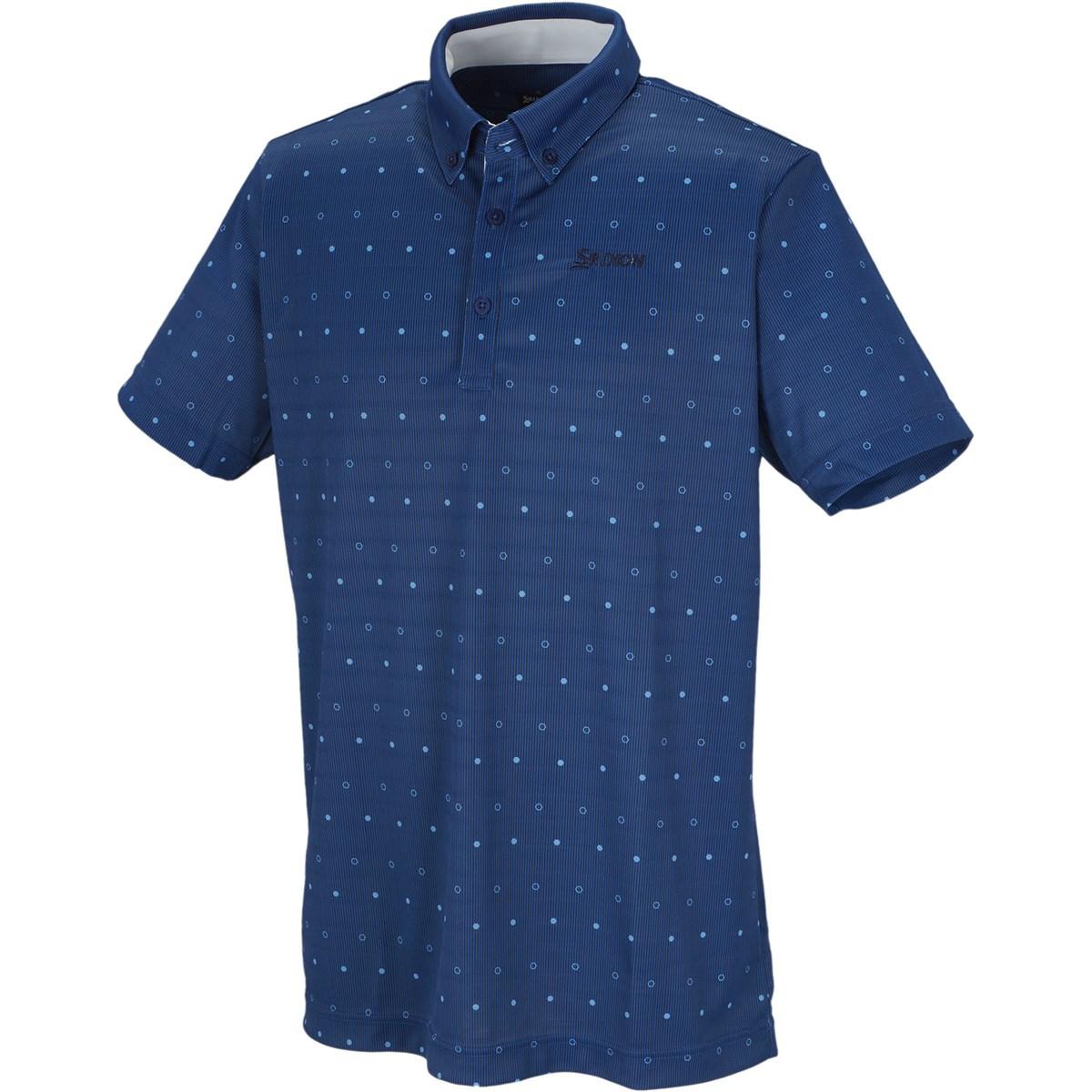スリクソンゴルフ SRIXON スムースメッシュプリント半袖ポロシャツ 3L ネイビー 00
