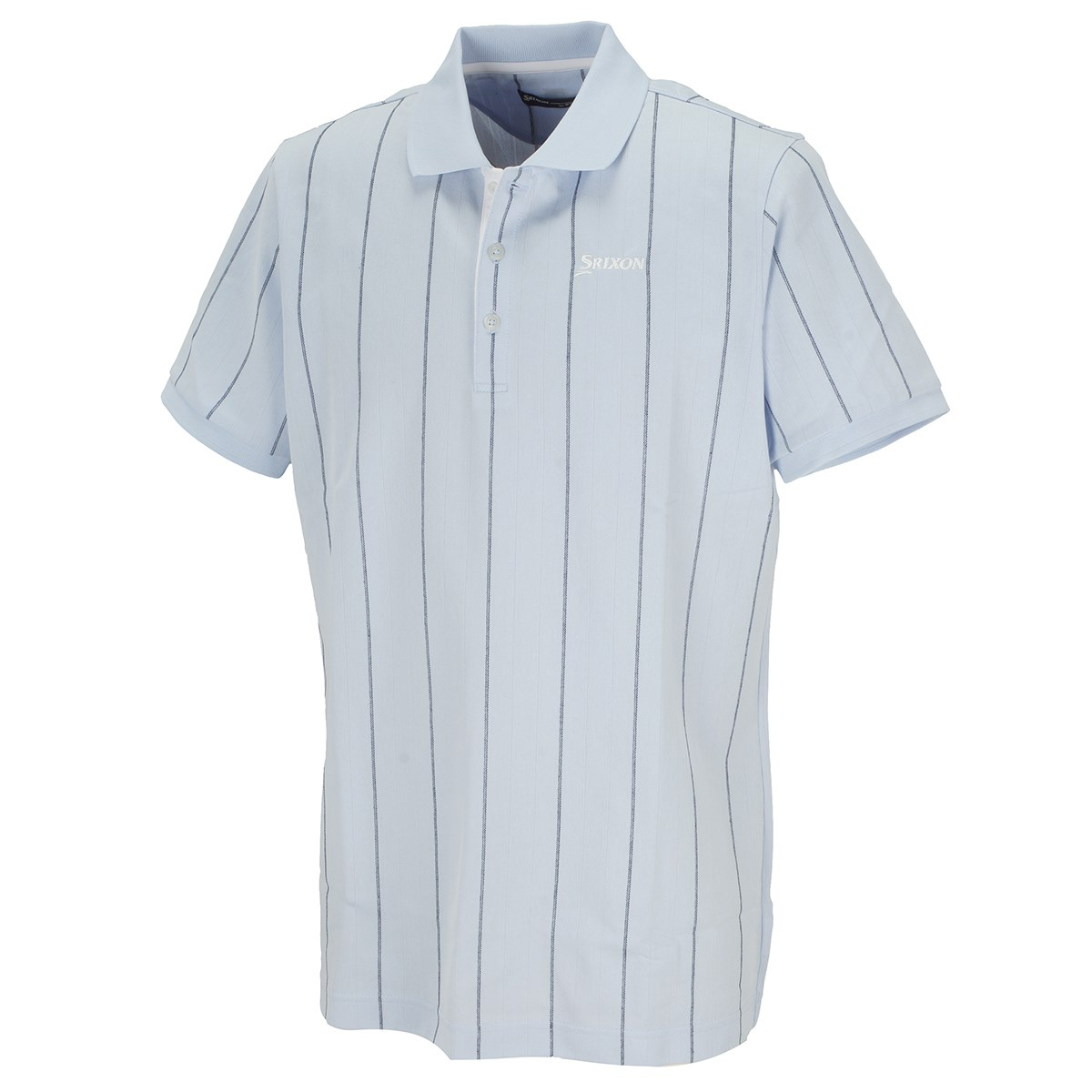スリクソンゴルフ 鹿の子ジャカードストライプ 半袖ポロシャツ