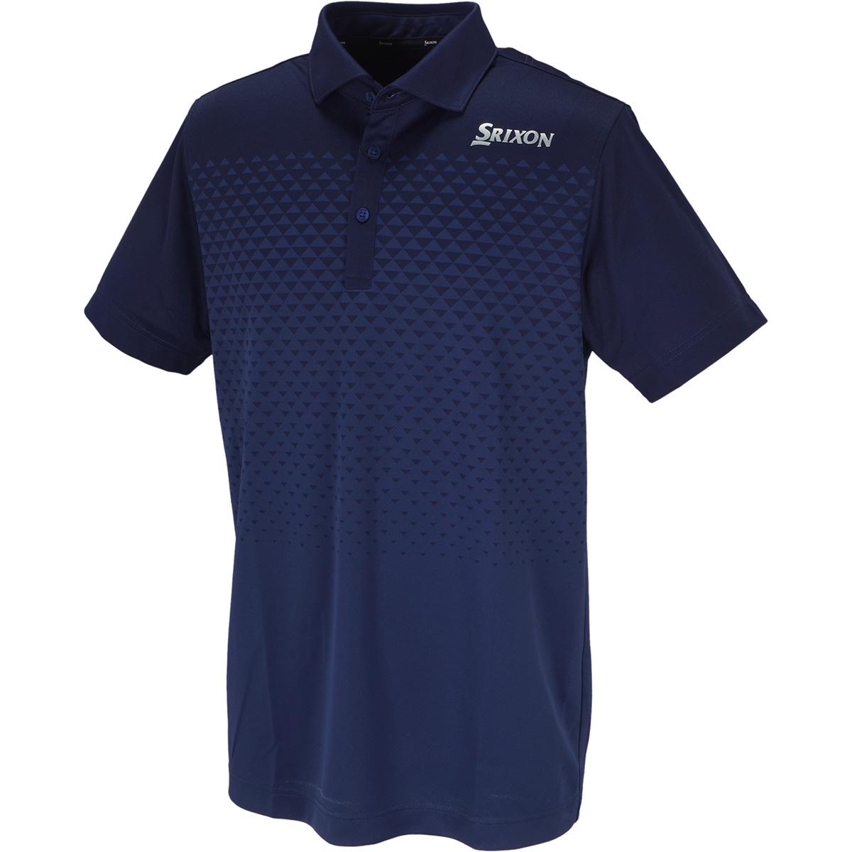 グラデーションジャカード半袖ポロシャツ