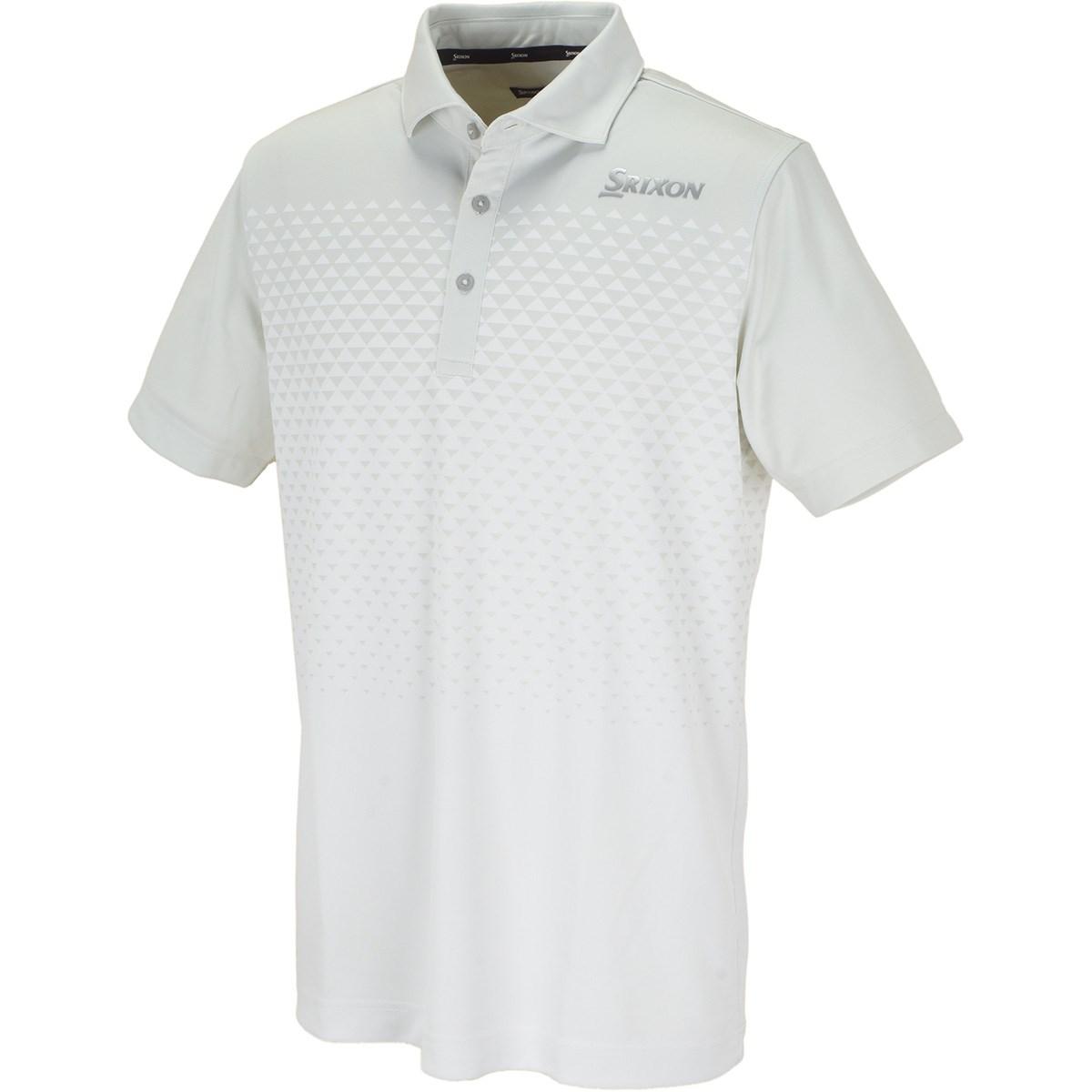 スリクソンゴルフ SRIXON グラデーションジャカード半袖ポロシャツ M ホワイト 00