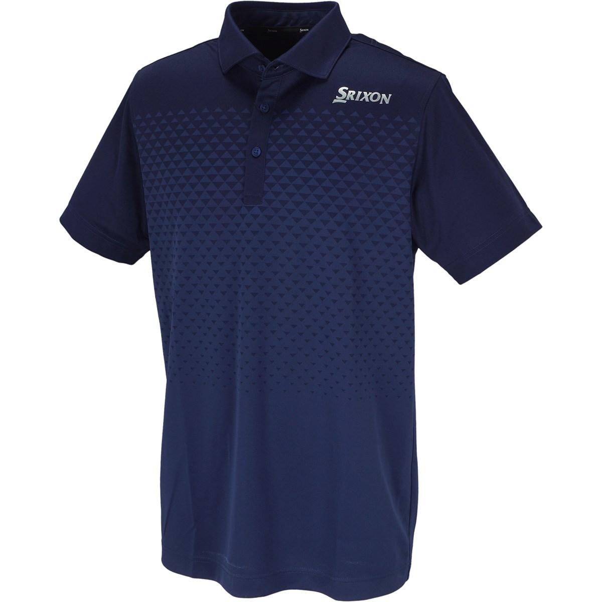 スリクソンゴルフ SRIXON グラデーションジャカード半袖ポロシャツ L ネイビー 00