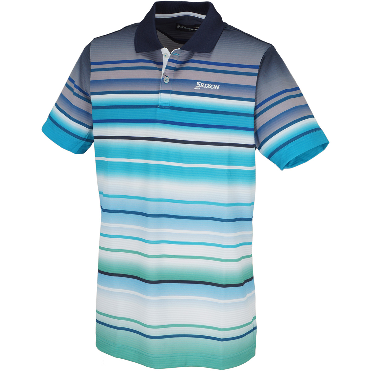 ニットサッカーパネルプリント 半袖ポロシャツ