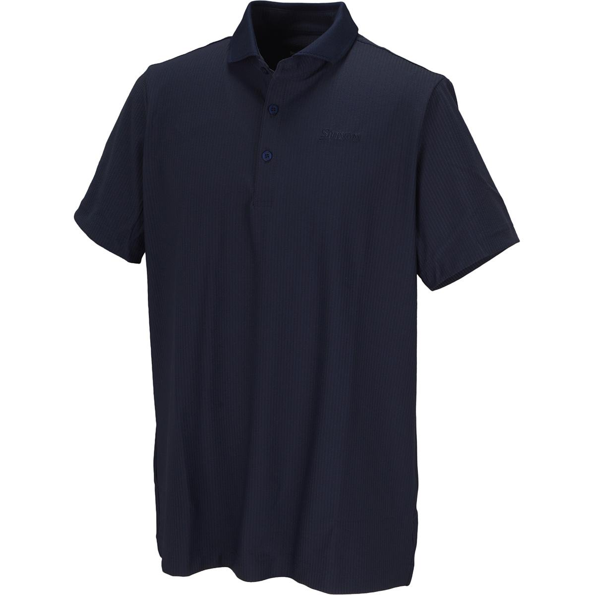 ニットサッカー半袖ポロシャツ