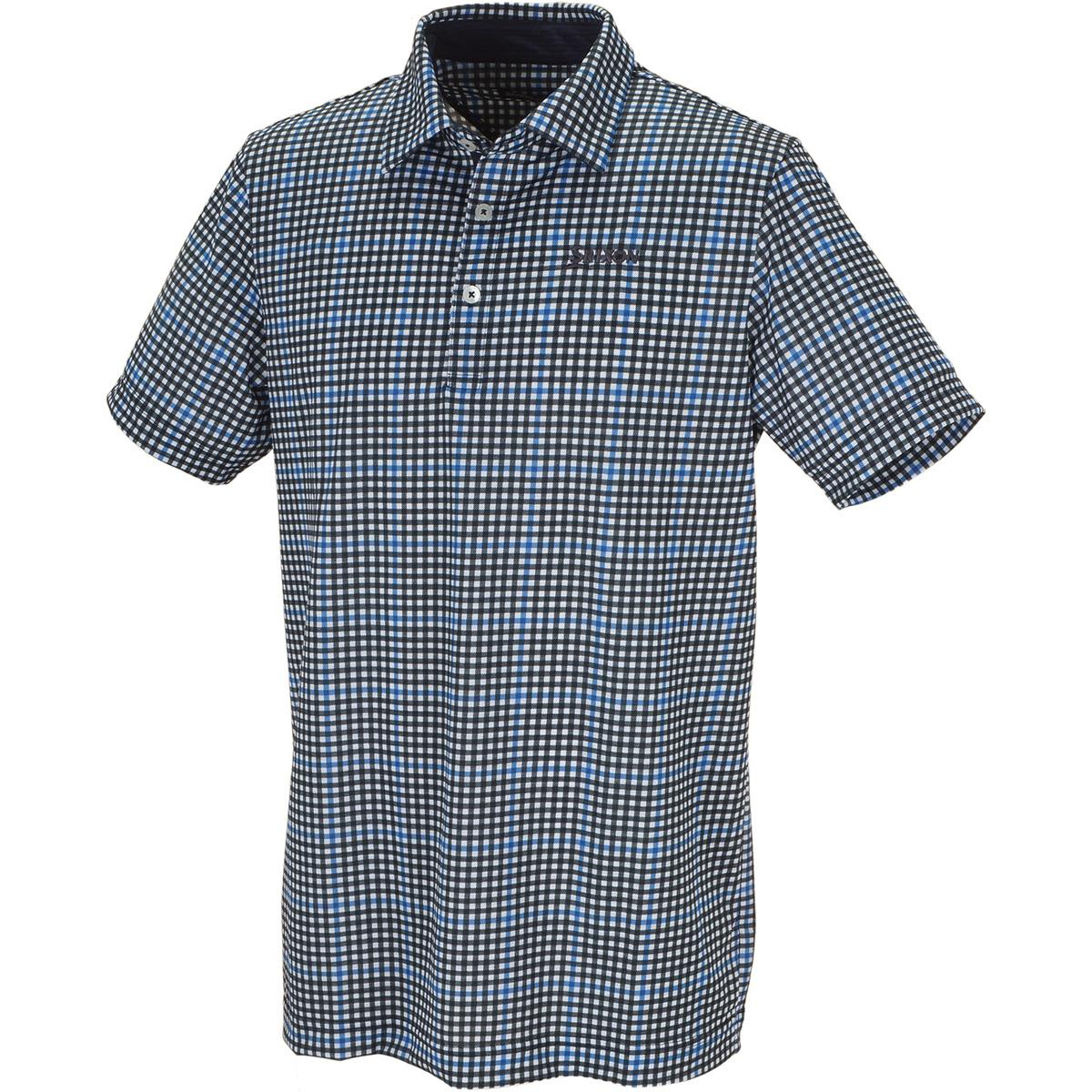 ニットサッカープリント半袖ポロシャツ