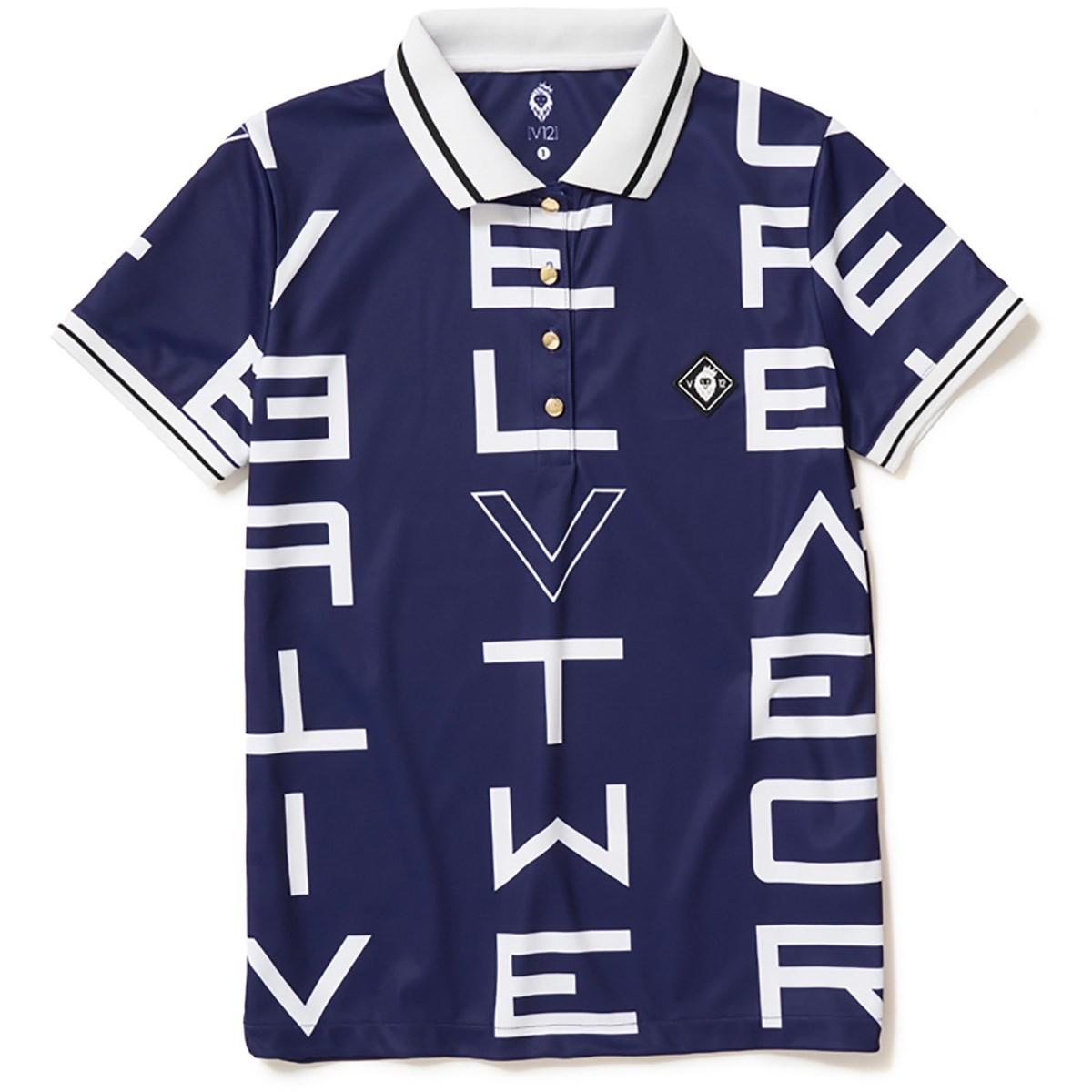 ヴィ・トゥエルヴ V12 GALAXY 半袖ポロシャツ 1 ネイビー レディス