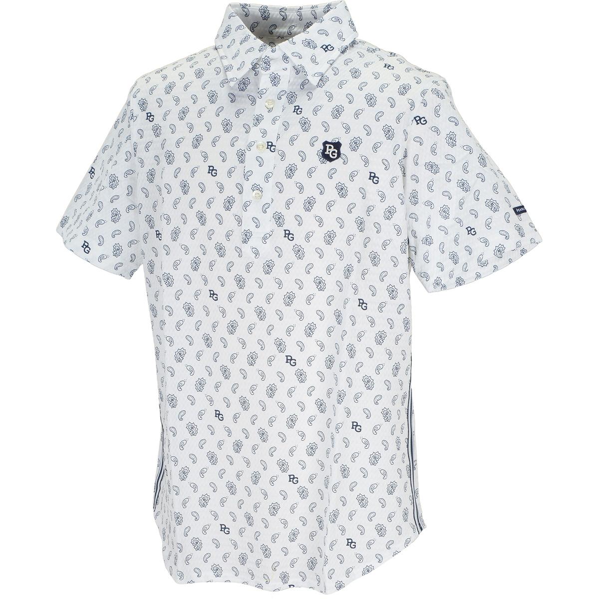 サッカー ペイズリー柄半袖ポロシャツ