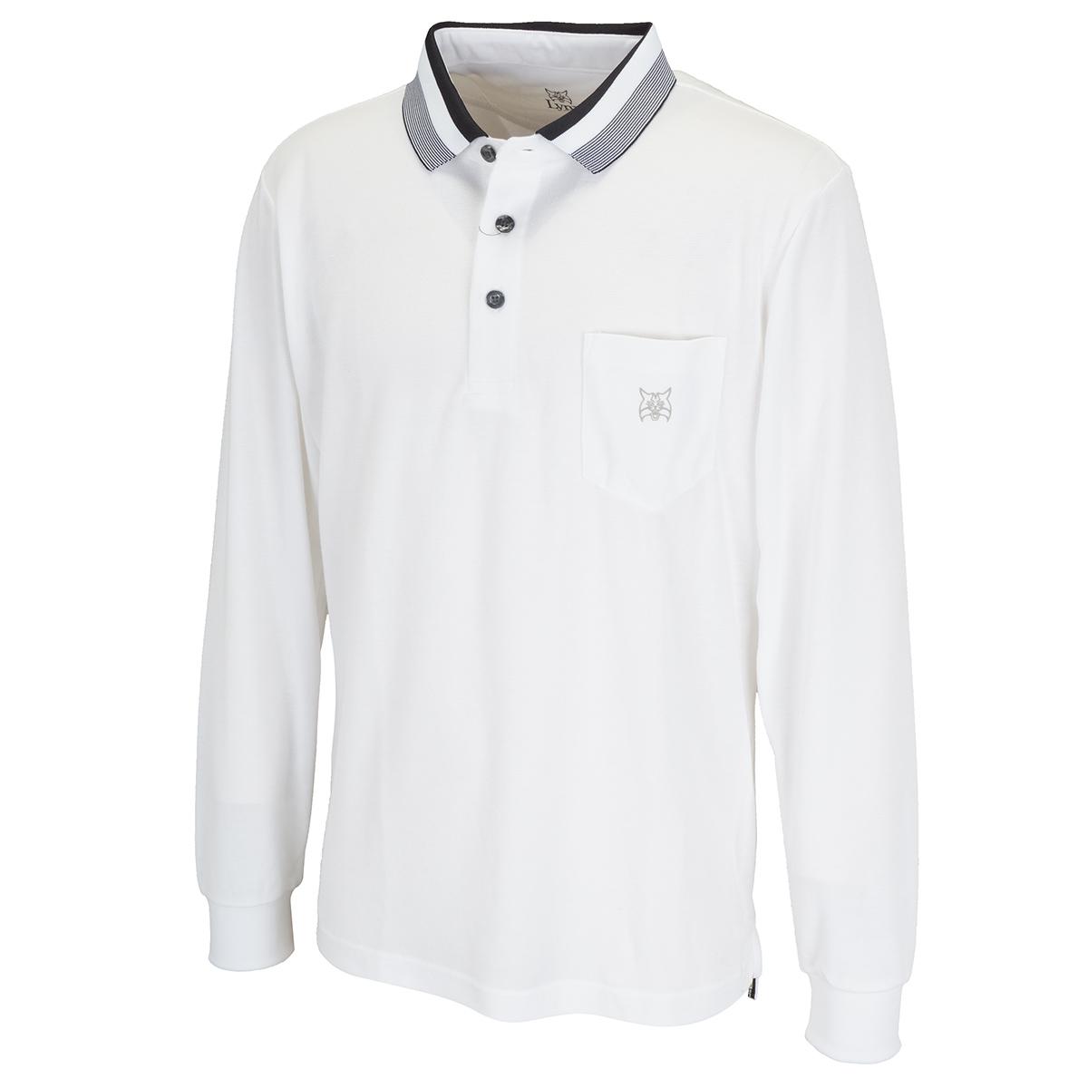 長袖ポケット付きポロシャツ