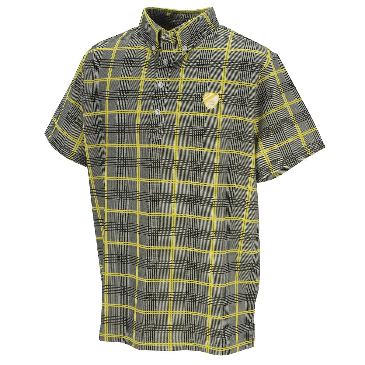 ストレッチジャカードチェック 半袖ポロシャツ