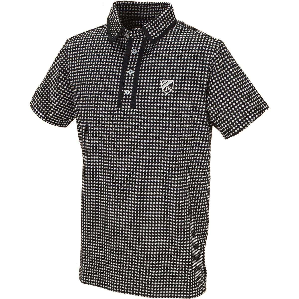 ドットジャカード 半袖ポロシャツ