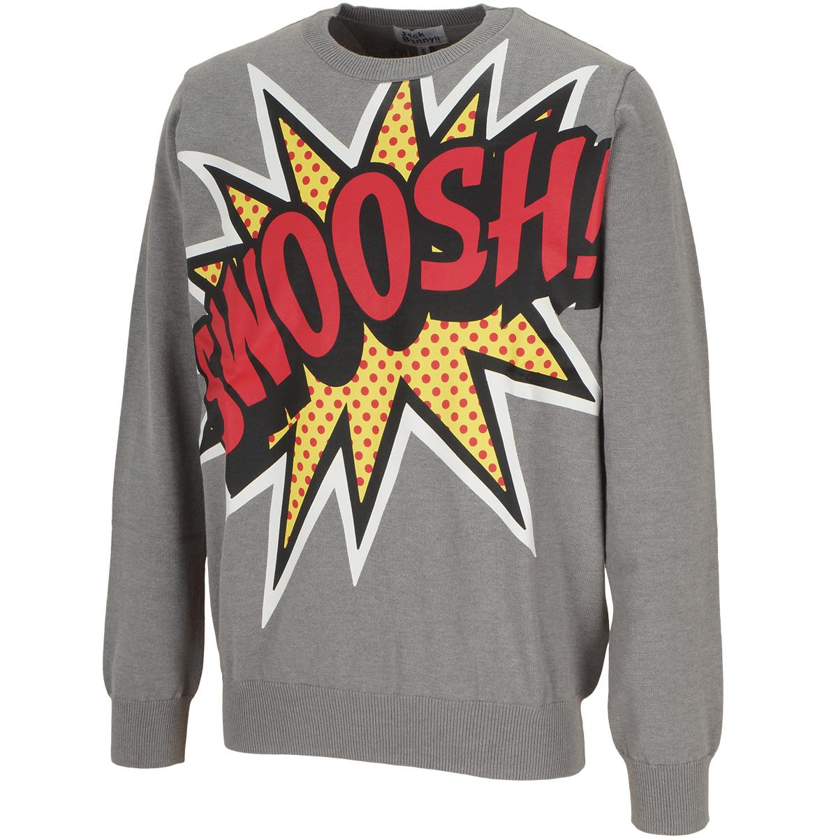 SWOOSHプリントセーター
