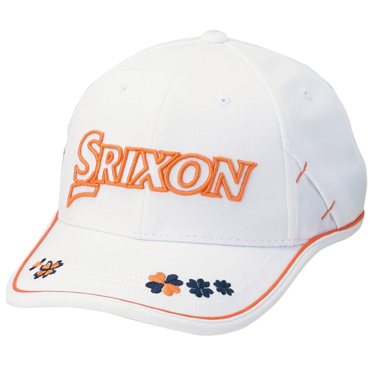 ダンロップ SRIXON キャップ フリー ホワイトオレンジ レディス