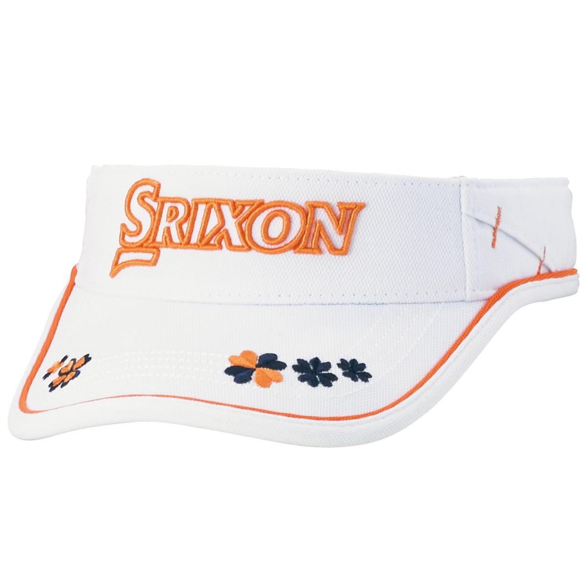 ダンロップ SRIXON サンバイザー フリー ホワイトオレンジ レディス