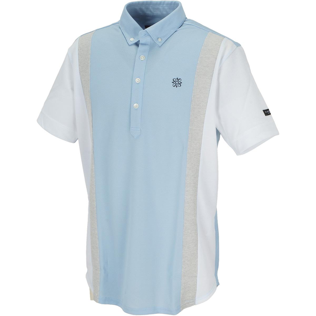 ピラミッド鹿の子配色半袖ポロシャツ