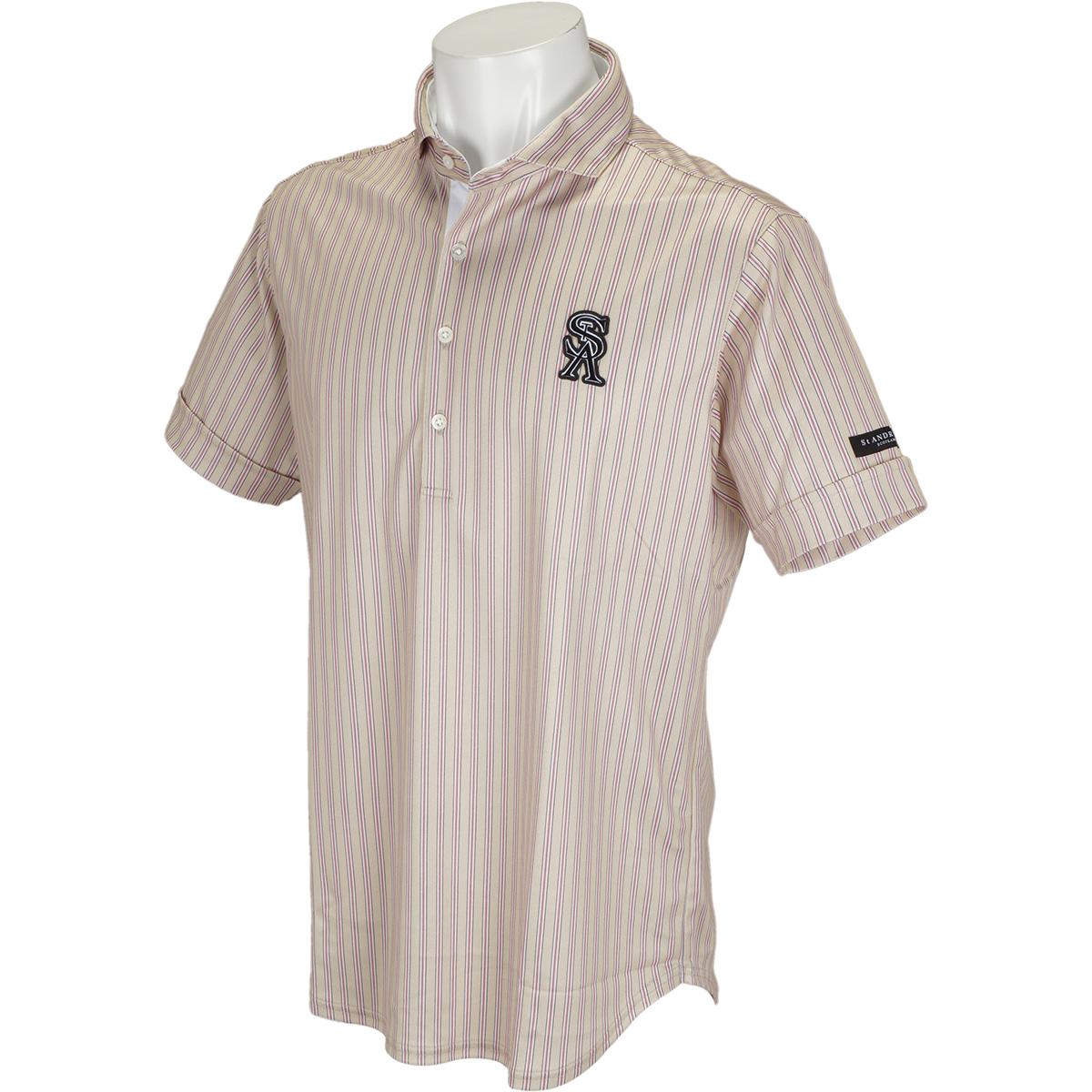 COOLMAX鹿の子ストライプ半袖ポロシャツ