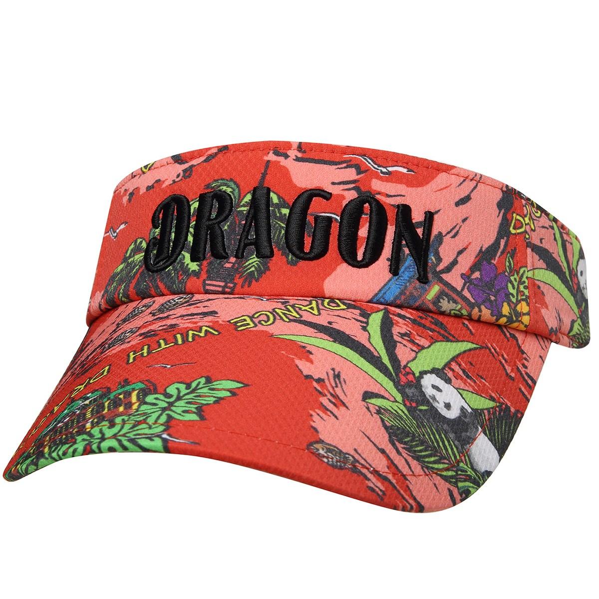 ダンスウィズドラゴン Dance With Dragon TOURISMプリント サンバイザー フリー レッド 059